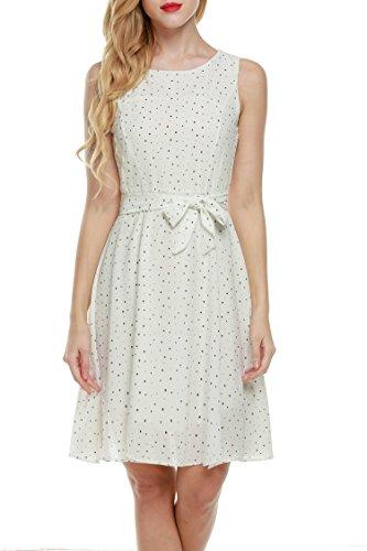 Zeagoo Damen Sommerkleid Brautjungfernkleid Chiffonkleid Feierliche Kleider