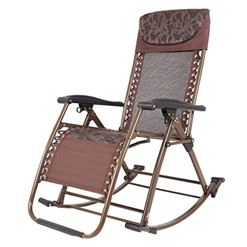 YVX Garden rocking chairs for adults Patio Lounge Recliners Folding Solarium Deckchair Sun loungers max. Capacity of 200 kg