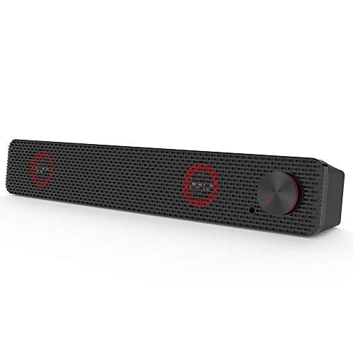 FACAI Lautsprecher Home-Audio-Lautsprecher Soundbars für Fernseher mit Subwoofer Drahtlose 10-W-Stereo-Bluetooth 4.2-LED-Lautsprecher Support Line In Tf-Wiedergabe Schwarz für