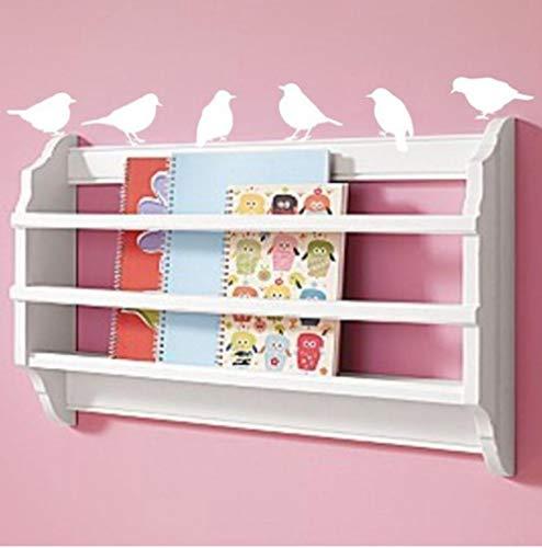Olivialulu söta väggklistermärken modern hem konst dekor fågel väggdekaler vardagsrum vinyldekoration en uppsättning 6 delar – du väljer färg storlek kan anpassas