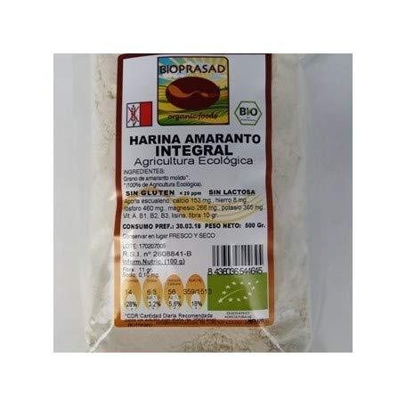 Bioprasad - Harina Amaranto Integral Bio 500 Gramos - Sin Gluten Sin Lactosa - Procedente De Agricultura Ecológica