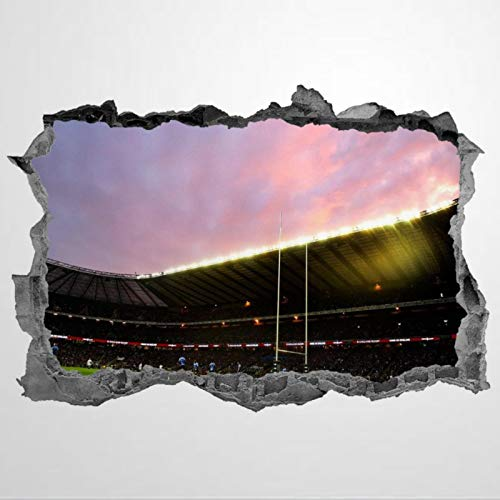 Rugby Stadium Sports PVC Wall Stickers & Murals,3D Art Wall Decal,Removable Home Decor Murals Poster for Bedroom, Living Room,Nursery Indoor.