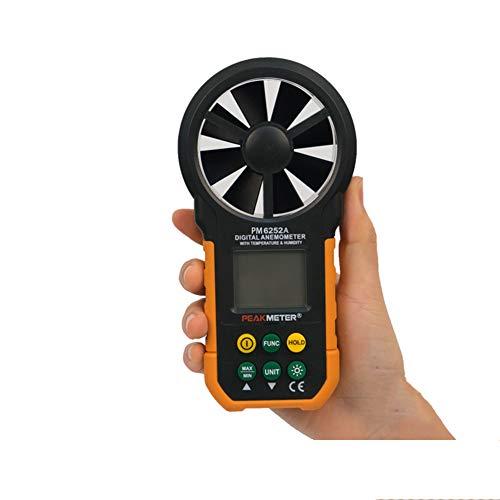 Gtest Anemómetro Digital de Mano, indicador de medidor de Velocidad del Viento portátil, con retroiluminación de LCD para Actividades al Aire Libre Deportes Recolección de Datos Windsurfing Vela