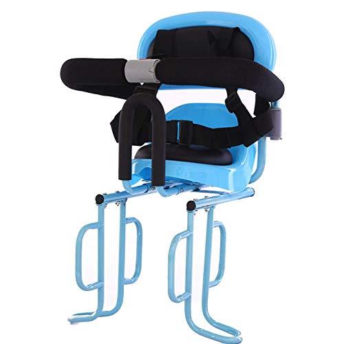 ZYQDRZ Sedile per Biciclette per Bambini con Bracciolo E Pedale Posteriore Ammortizzatore, Seggiolino per Bambini Posteriore per Mountain Bike Bici Elettrica,Blu