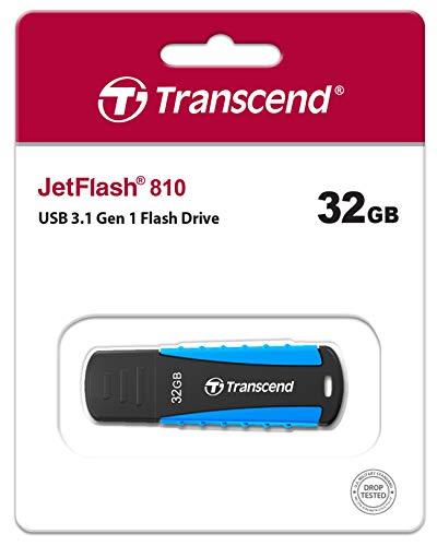 TranscendUSBメモリ32GBUSB3.1キャップ式ブラック耐衝撃防滴防塵TS32GJF810