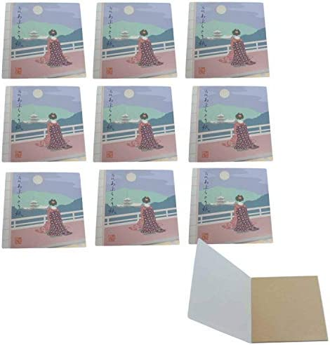 Maiko Japanese Premium Oil Blotting Paper 50 Sheets Packs of10 Beautiful Back View made in japan product image