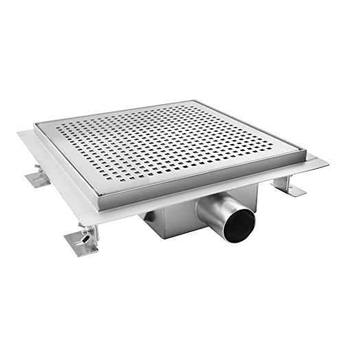 Preisvergleich Produktbild AQUADE 25x25cm Duschablauf Duschrinne Ablaufrinne Edelstahlrinne Bodenablauf Modell: 80094 (Größen 15cm - 25cm)