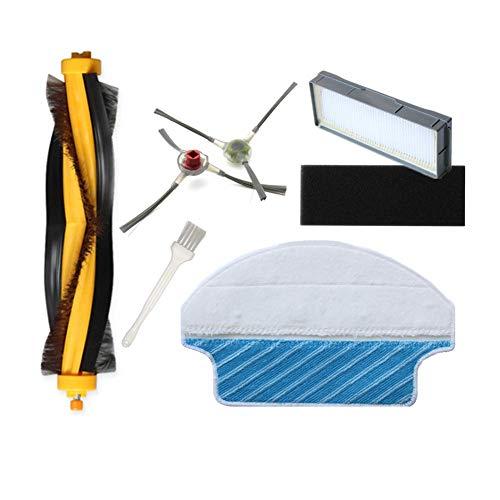 Ersatzteile für Ecovacs DM81-KTA Zubehörset für DEEBOT M81, Hauptbürste Seitenbürsten Feinstaubfilter Reinigungstücher