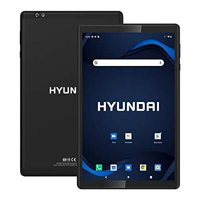 "Hyundai HyTab Plus 10WB1, 10.1"" Android Tablet, 2GB RAM, 32GB Storage, Quad-Core Processor, 10.1"" IPS HD Display, Android 10 Go Edition, Dual Camera, WiFi, Metal Body Black"