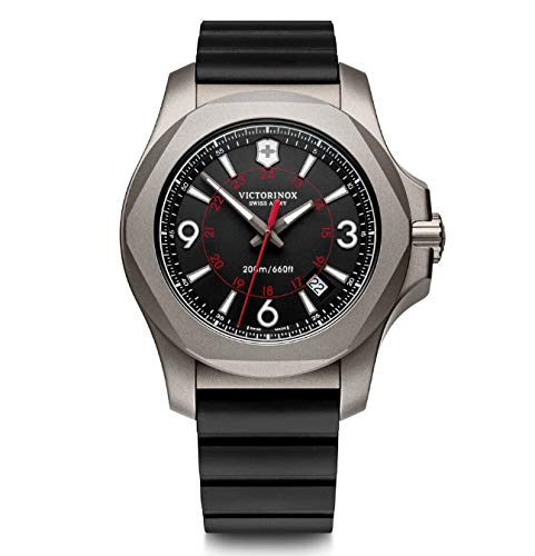 Victorinox Herren I.N.O.X. Titanium - Swiss Made Analog Quarz Titan/Leder Uhr 241833