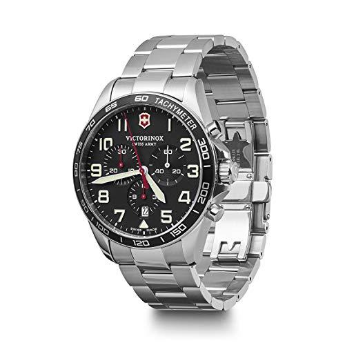 Victorinox Herren Field Force Chronograph - Swiss Made Analog Quarz Edelstahl Uhr 241855