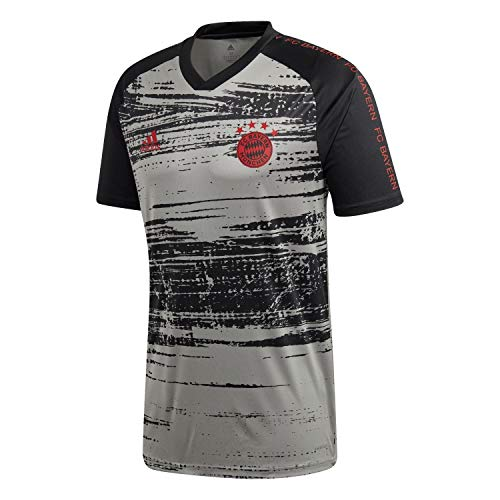 adidas Herren FC Bayern München Pre-Match Shirt 2020/21 Dove Grey/Black XXXL