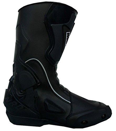 WinNet Stivali da Moto con Protezione antitorsione Neri, Taglia: 37