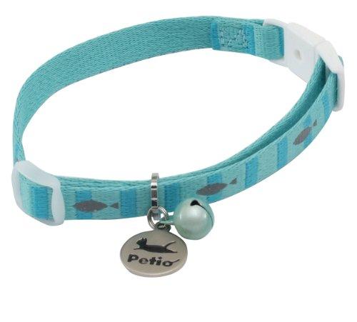 ペティオ 首輪 キャットカラー フィッシュボーダーカラー ブルー 猫用
