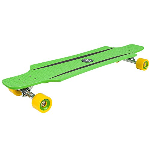 HUDORA Longboard CruiseStar grün/gelb 92x24cm Skateboard Streetboard Cruiserboard Streetsurfer Board