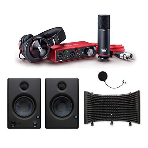 Focusrite Scarlett 2i2 USB Audio Recording Interface Studio Pack 2nd Generation...