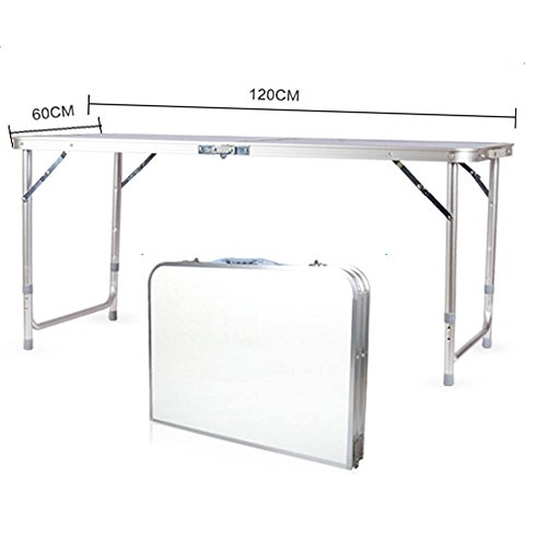 TimmyHouse Folding Table Portable 4FT Desk Outdoor Garden Camping Dining Party BBQ Aluminum