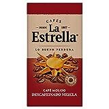 La Estrella Café Molido de tueste natural y torrefacto descafeinado - Descafeinado Mezcla - Paquetes de 8 x 250 g - Total: 8 kg
