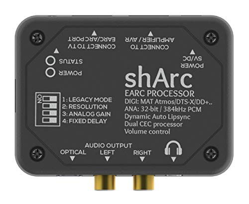 Thenaudio SHARC EARC HDMI 2.1 Audio Converter Processor with 384kHz DAC