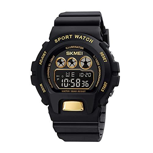 子供腕時計 男の子 デジタル腕時計 8機能 50m防水 ボーイズスポーツウォッチ 子供腕時計 キッズウォッチ アラーム付き 日付曜日表示 タイマー機能 アウトドア ストップウォッチ 夜間LEDライト ボーイズ 贈り物 新学期 運動会