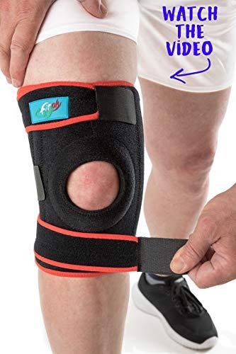 FitFitaly XL Kniebandage für Patella, Meniskus und Bänder - Verstellbarer Knieschutz für Sport (XL - ExtraLarge)