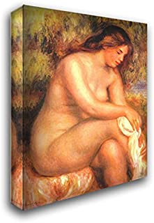 Bather Drying Her Leg 20x24 Gallery Wrapped Stretched Canvas Art by Pierre Auguste Renoir