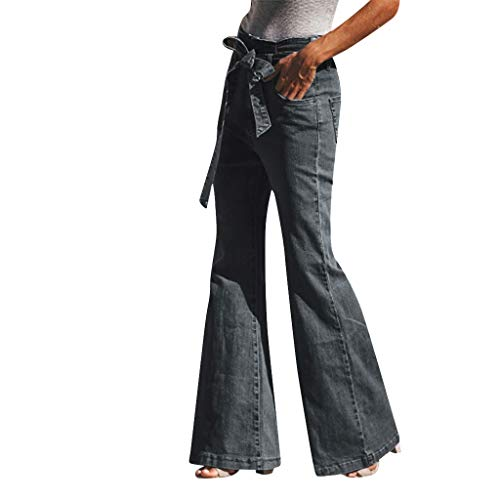 Damen Hohe Taille Schnitt Hosen Jeans Herbst Plus Lose Denim Bogen Beiläufige Frauen