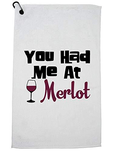 Hollywood draad wijn - je had me in Merlot Golf handdoek met karabijnhaak Clip