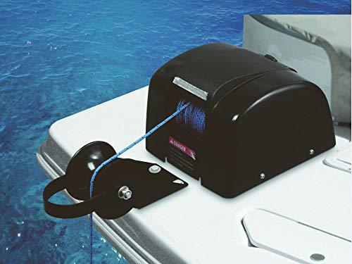 Elektrische Ankerwinde 30m 12V schwarz Süßwasser für Anker bis 20Kg Seilwinde