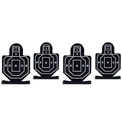 ARSUK Airsoft BB Schießen Zielscheibe klebrig Crossman Magnetisch Halter Ständer Papier Kugelfang Multifunktions mit Trichter Selbst zurücksetzend für Luftgewehr Pistole (Menschliches Formziel)
