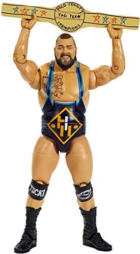 WWE GKR01 - WWE Elite Collection Action Figur (15 cm) Tucker mit realistischen Gesichtszügen, bewegliche Spielzeug Actionfigur ab 8 Jahren