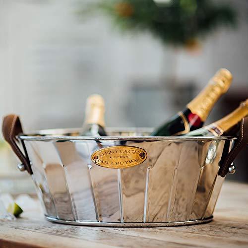 Culinary Concepts Heritage Leder behandelt Große Champagner Bad