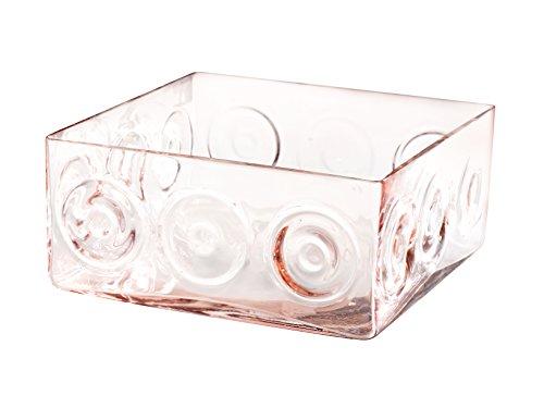 Pasabahce HOME glazen vaas Chicago roze Cm11,5 17378 Arredo E Deco huis 11,5 cm