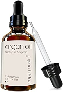 Poppy Austin Pure Argan Oil for Hair and Skin - Vegan Certified, Cruelty-Free, Organic, Cold Pressed and Finest Grade, 4 oz