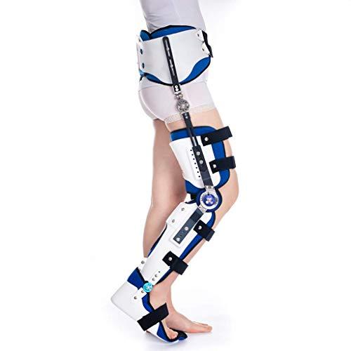 Brasier de abducción poscadera, ajustable en la rodilla del muslo y tobillo que apoya la ortesis para la cintura de la cadera, el muslo y el alivio del dolor del nervio ciático