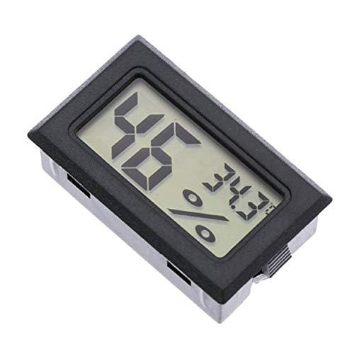 Timetided Termómetro portátil Integrado Higrómetro Inalámbrico electrónico Digital Temperatura Interior Medidor de Humedad