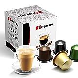 Biespresso, Cápsulas compatibles con Nespresso, Espressino Cortado, 50 cápsulas + Kit de accesorios (paletas y vasos)