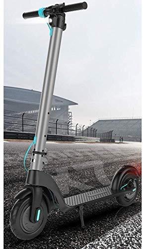 SJZLMB Patinete electrico El Movimiento Deslizante más Caliente Plegable Mejor Vespa Bicicleta eléctrica Inteligente eléctrica clásica Paso Scooter con Asiento Opcional for los Adultos