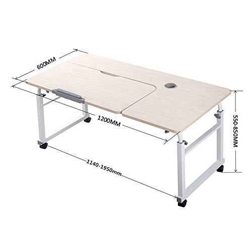 XiuHUa Klapptisch, Platte faul Bett über den Tisch Tisch Heben Tisch nach Hause Klappcomputertisch abnehmbare Kinderschreibtisch Multifunktionstisch mit Roller tragbare faul Lieferungen/Tabelle