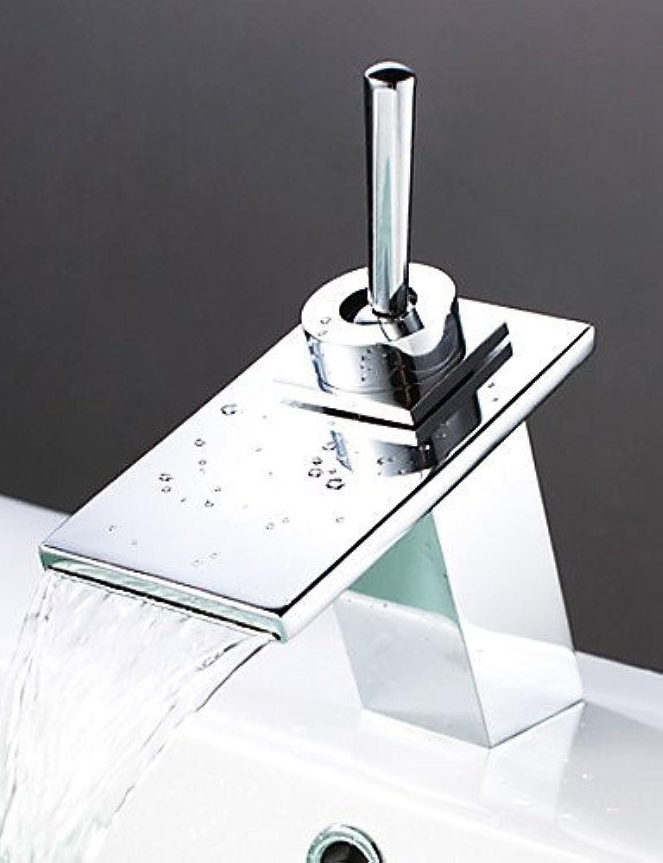 MONFS Home Waschtischarmaturen Zeitgenssischer Wasserfall Chrom