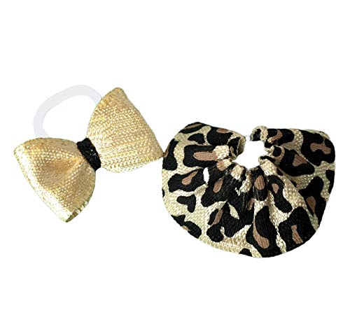 Pet Shop Accessories LPS Lot Gold Leopard Bow Skirt CAT NOT Included