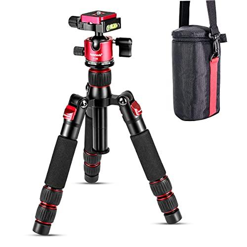 koolehaoda Nuevo diseño Mini trípode portátil Mini trípode Compacto de Escritorio con la Cabeza de la Bola para la cámara DSLR Canon Nikon (H-55)