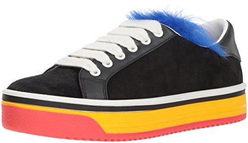 Marc Jacobs Women's Love Empire Fur Sneaker, Black/Multi, 35 M EU (5 US)