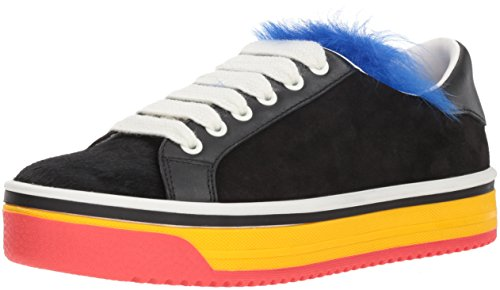 Marc Jacobs Women's Love Empire Fur Sneaker, Black/Multi, 39 M EU (9 US)
