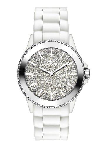 s.Oliver Damen-Armbanduhr Analog Quarz Silikon SO-2583-PQ