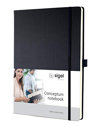 Sigel CO110 Notizbücher, schwarz, ca. A4