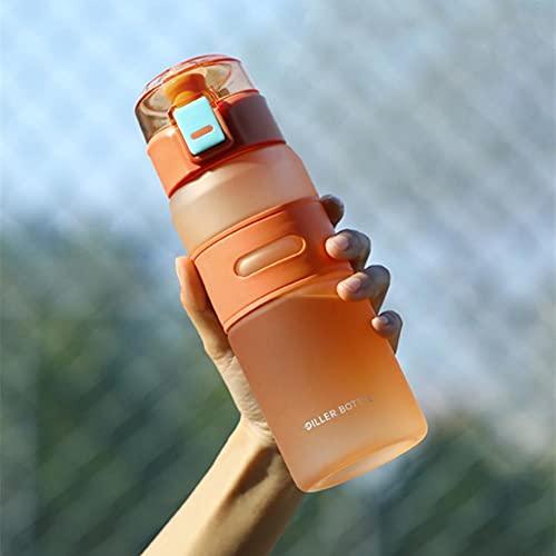UKKO Taza Plástico Portátil Kettle Beber Taza De Té Deportes Al Aire Libre Camping Productos Café Herramientas De Cocina-Orange 700Ml