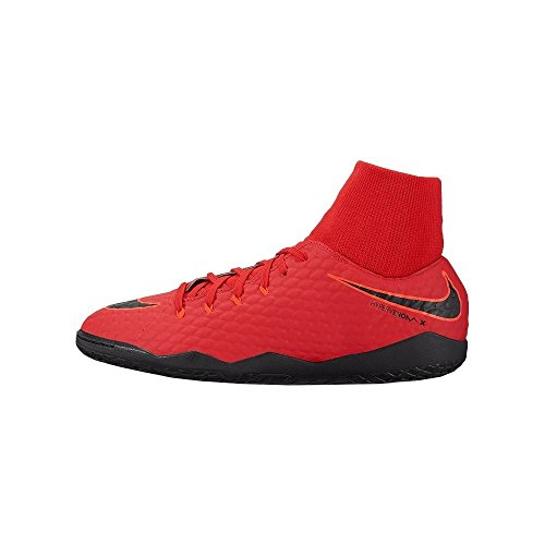 Nike Herren Hypervenom X Phelon 3 DF IC 917768 Fußballschuhe, Rot (University Red/Bright Crimson/Black 616), 45.5 EU