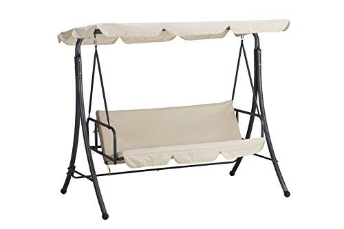 Dondolo a letto bali In acciaio verniciato Telo in poliestere 180 gr/m² Colore beige.