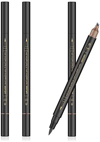 Eyebrow Tattoo Pen with Eyeliner 2PCS Waterproof Microblading Eyebrow Pen to Make natural looking product image